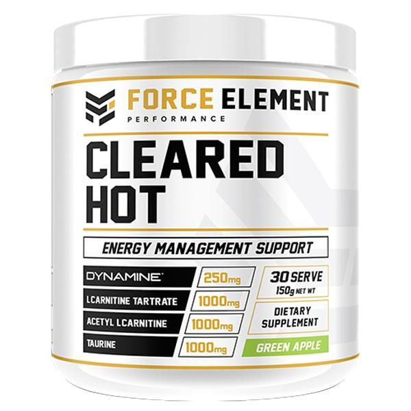 Force Element Cleared Hot-Weight Loss - Fat Burners-Force Element Performance-30 SERVE-GREEN APPLE-Thrive Health and Nutrition