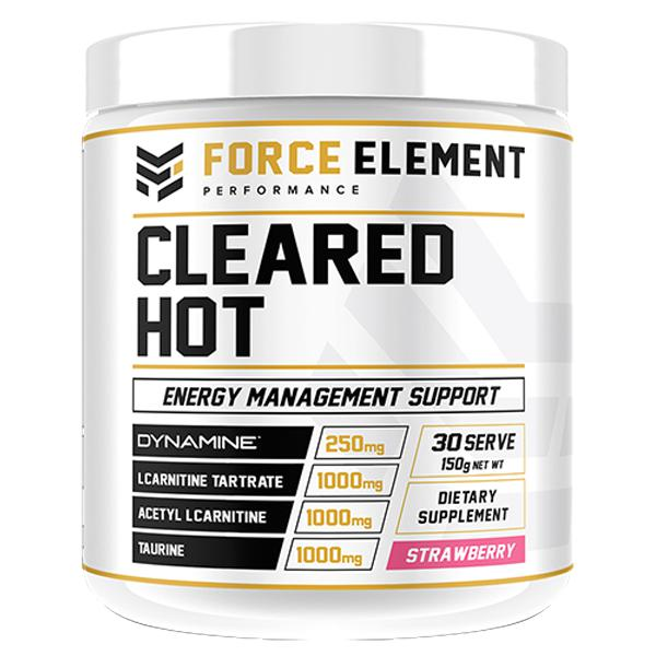 Force Element Cleared Hot-Weight Loss - Fat Burners-Force Element Performance-30 SERVE-STRAWBERRY-Thrive Health and Nutrition