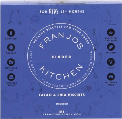 Franjos Kitchen Cacao &Chia Kinder Biscuits