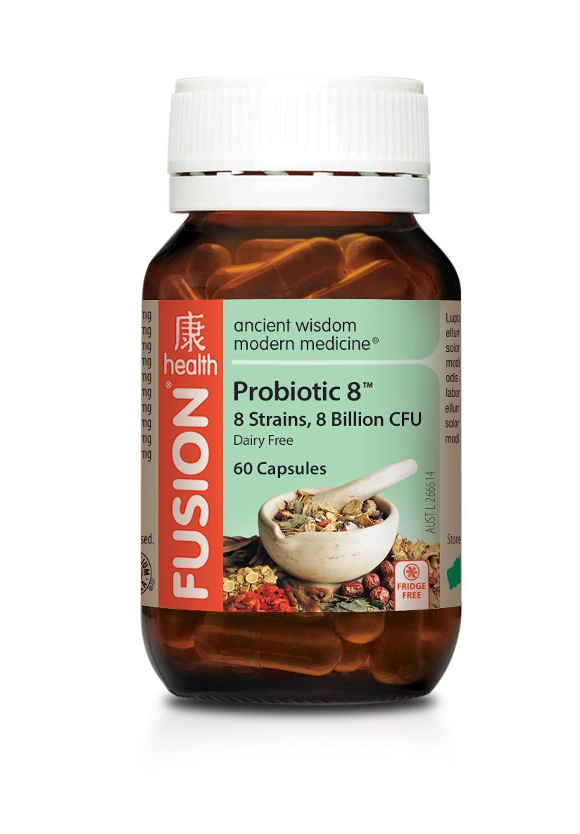 Fusion Probiotic 8-Vitamin and Minerals - Probiotic And Gut Health-FUSION-60 CAPSULES-Thrive Health and Nutrition