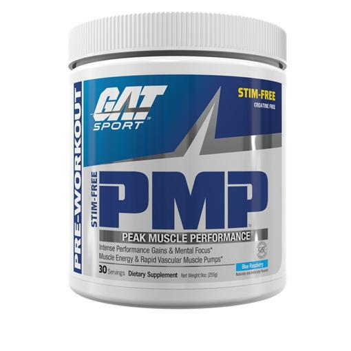 GAT PMP Stim Free-Sports Nutrition - Stim Free Pre Workout-GAT Sport-30 Serves-BLUE RASPBERRY-Thrive Health and Nutrition
