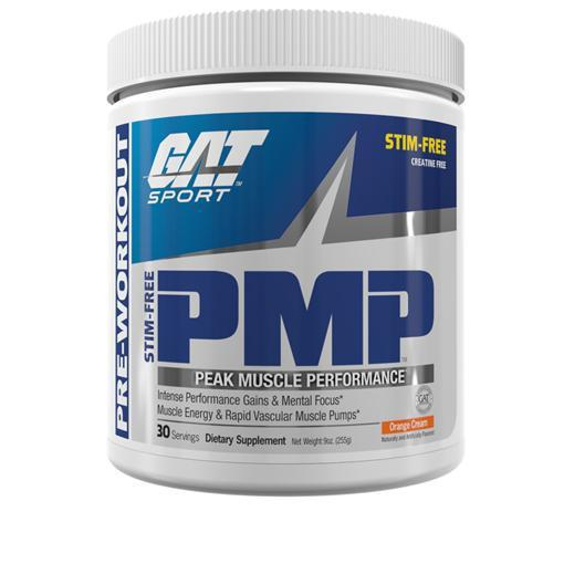 GAT PMP Stim Free-Sports Nutrition - Stim Free Pre Workout-GAT Sport-30 Serves-ORANGE-Thrive Health and Nutrition