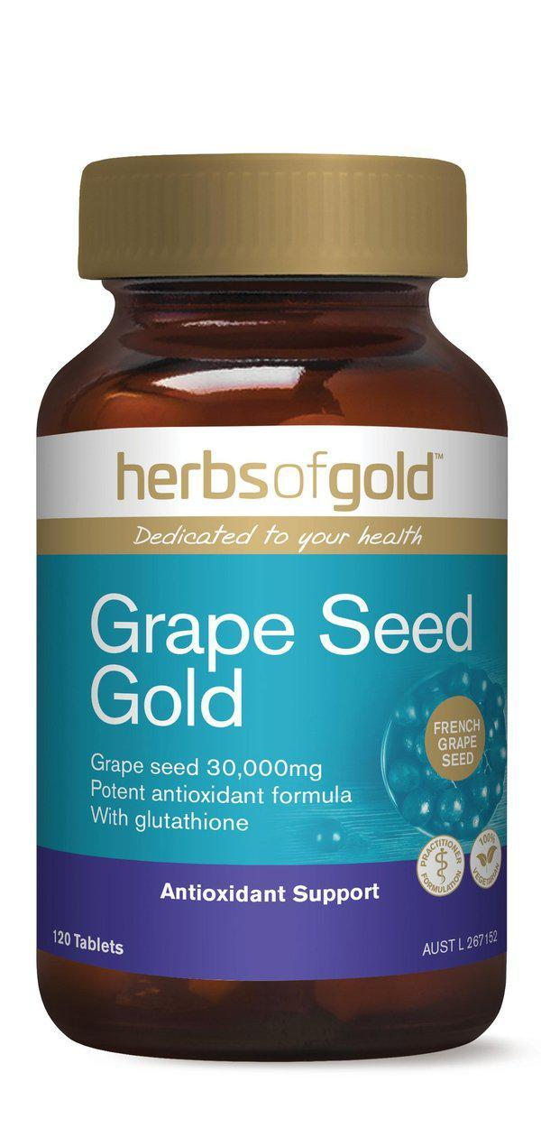 HofG Grape Seed Gold-Vitamin and Minerals - General Health-Herbs of Gold-120T-Thrive Health and Nutrition
