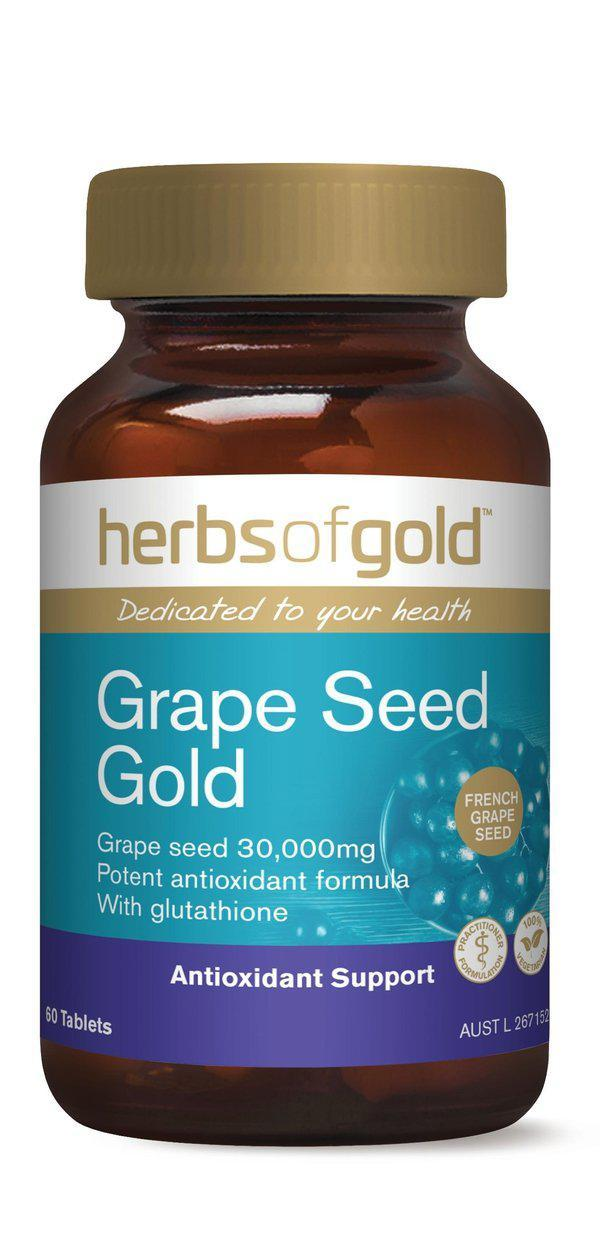 HofG Grape Seed Gold-Vitamin and Minerals - General Health-Herbs of Gold-60T-Thrive Health and Nutrition
