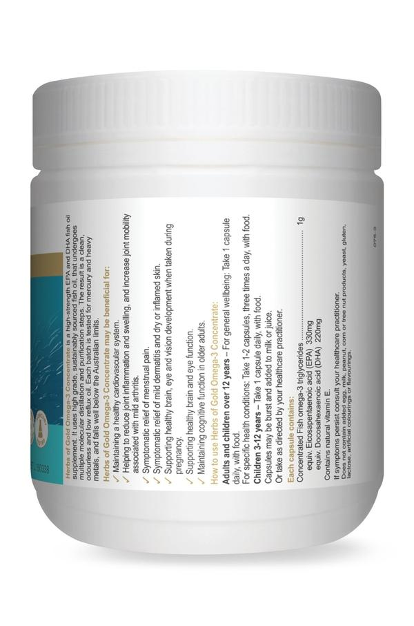 HofG Omega 3 Concentrate-Vitamin and Minerals - Essential Fatty Acids-Herbs of Gold-200C-Thrive Health and Nutrition