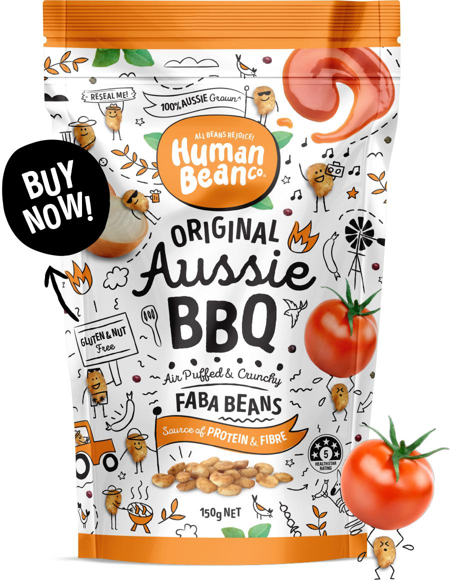 Human Bean Co Faba Beans-Health Foods - Snacks-Human Bean Co-150G-Aussie BBQ-Thrive Health and Nutrition