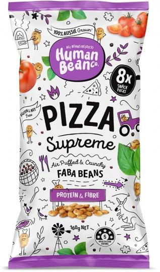 Human Bean Co Faba Beans-Health Foods - Snacks-Human Bean Co-8x20g-Pizza Supreme-Thrive Health and Nutrition