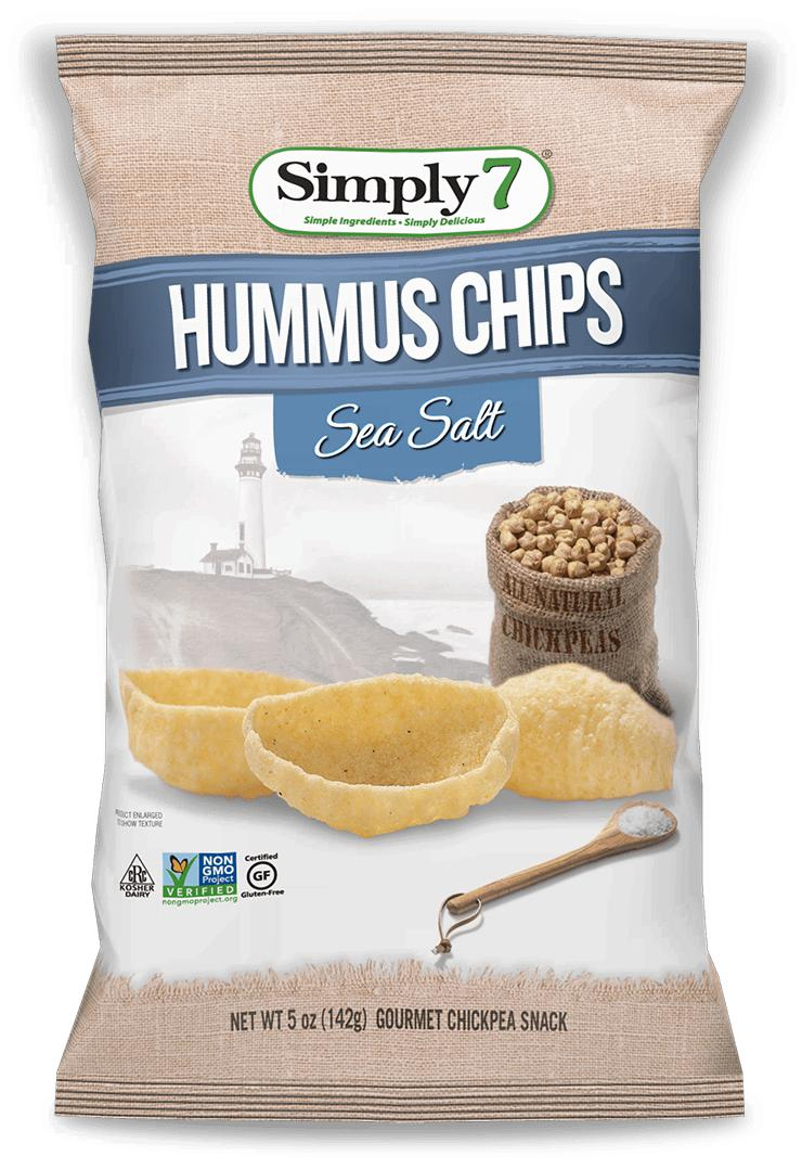 Hummus Chips-Health Foods - Snacks-Simply 7-142GM-SEA SALT-Thrive Health and Nutrition