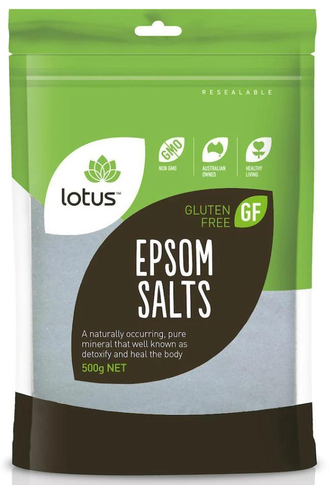 Lotus Epsom Salts-Vitamin and Minerals - Magnesium-LOTUS-500GM-Thrive Health and Nutrition
