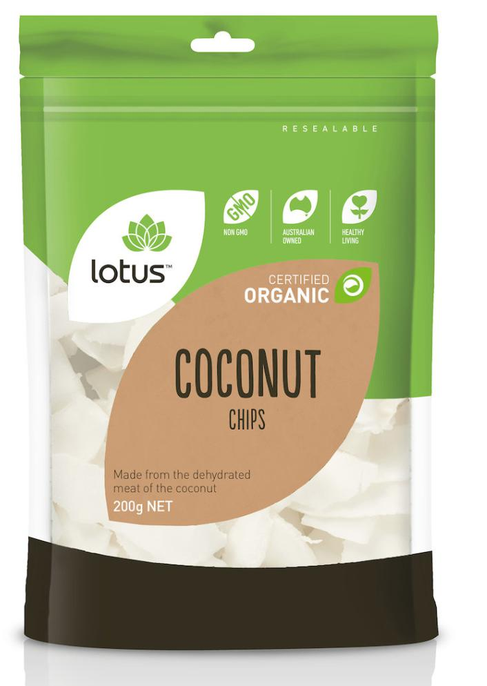 Lotus Organic Coconut Chips-Health Foods - Nuts Seeds And Grains-LOTUS-200GM-Thrive Health and Nutrition