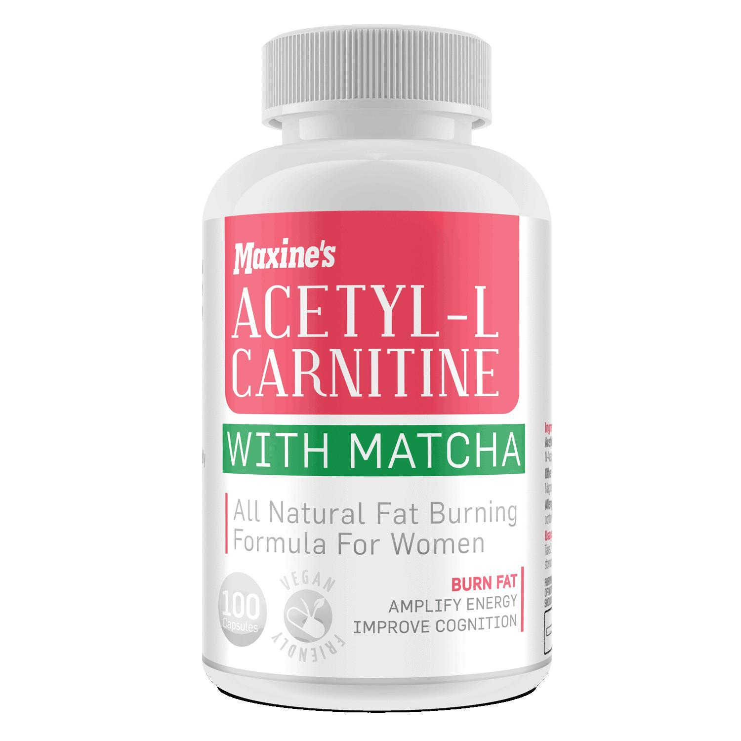Maxines Acetyl L Carnitine With Matcha-Weight Loss - Carnitines-Maxines-100C-Thrive Health and Nutrition