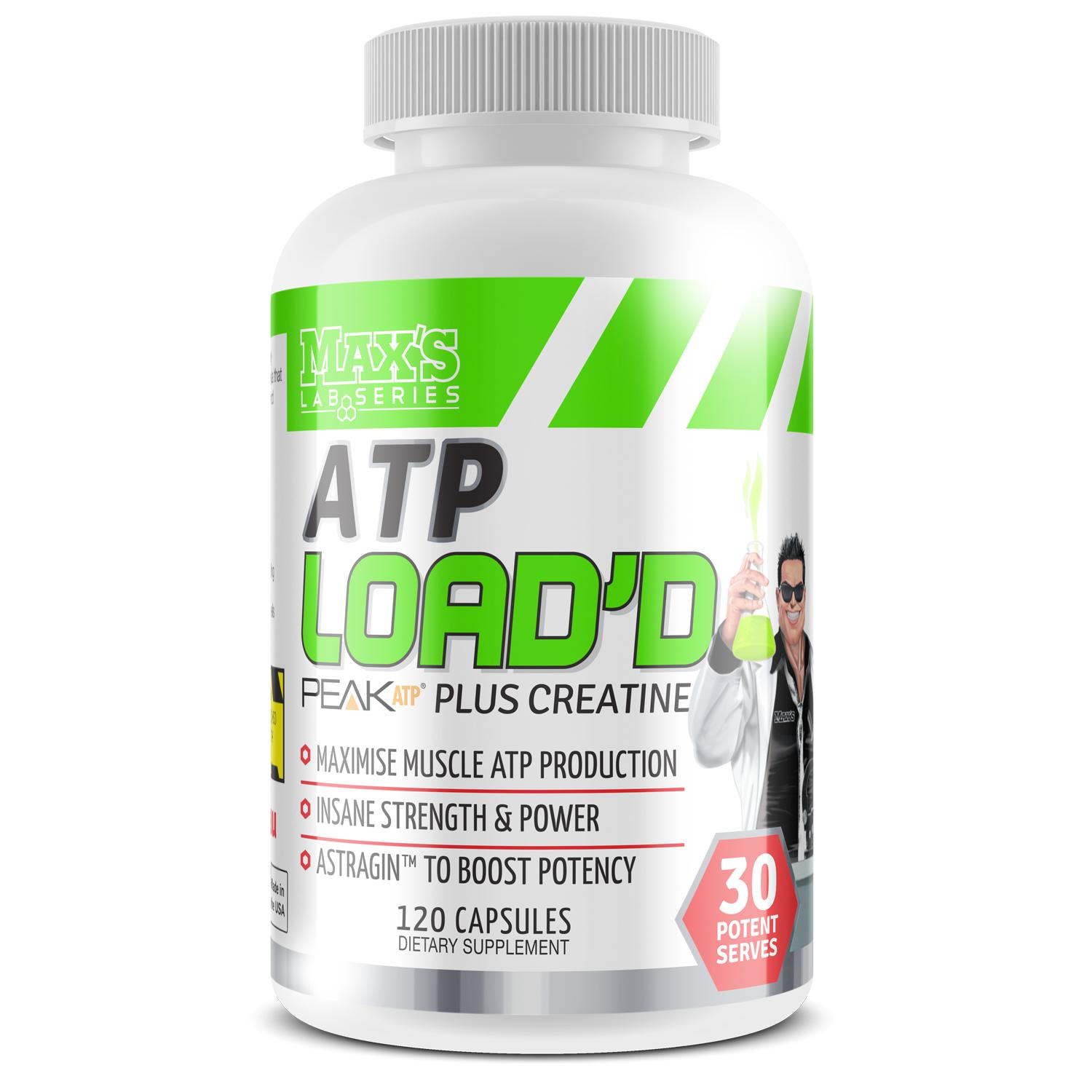 Maxs ATP Loaded-Sports Nutrition - Creatine-MAX-30 Serves-Thrive Health and Nutrition