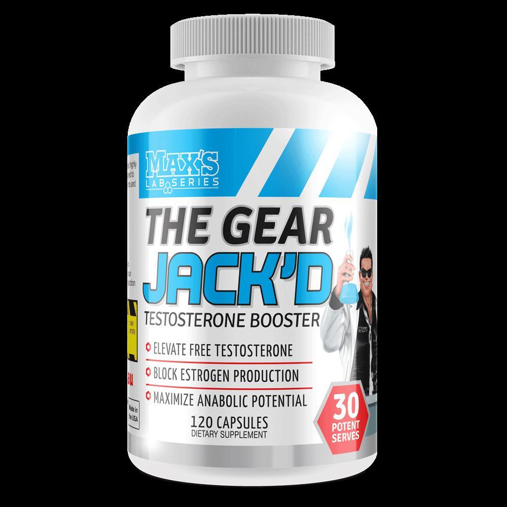 Maxs The Gear Jack D-Sports Nutrition - Test Boosters-MAX-120C-Thrive Health and Nutrition