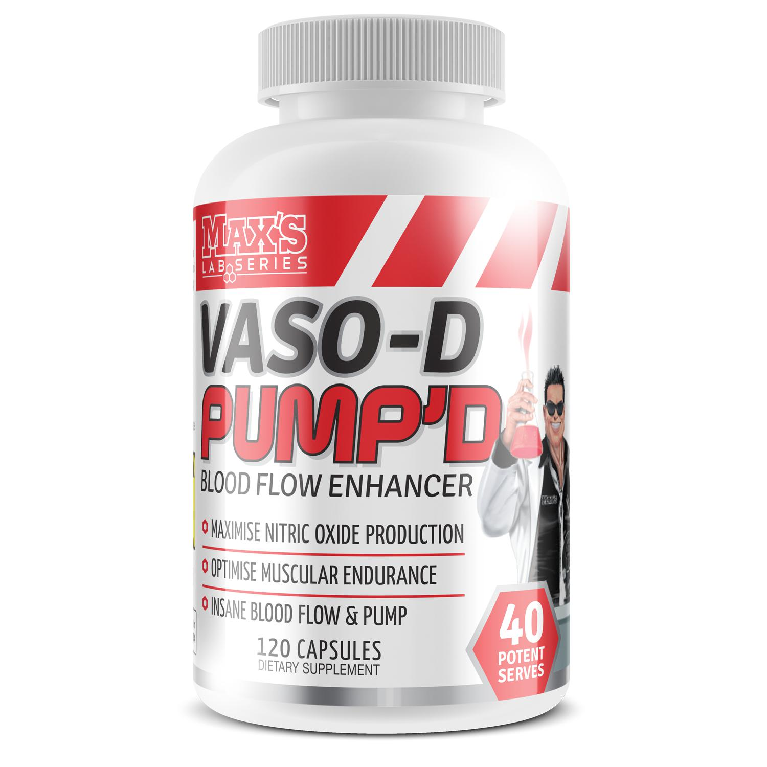 Maxs Vaso-D Pumped-Sports Nutrition - Nitic Oxide Booster-MAX-30 Serves-Thrive Health and Nutrition