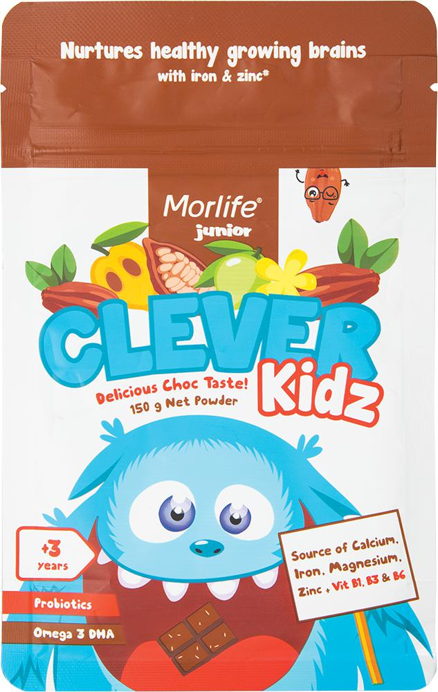 Morlife Clever Kidz-Health Foods - Greens-Morlife-150G-DELICIOUS CHOCOLATE-Thrive Health and Nutrition