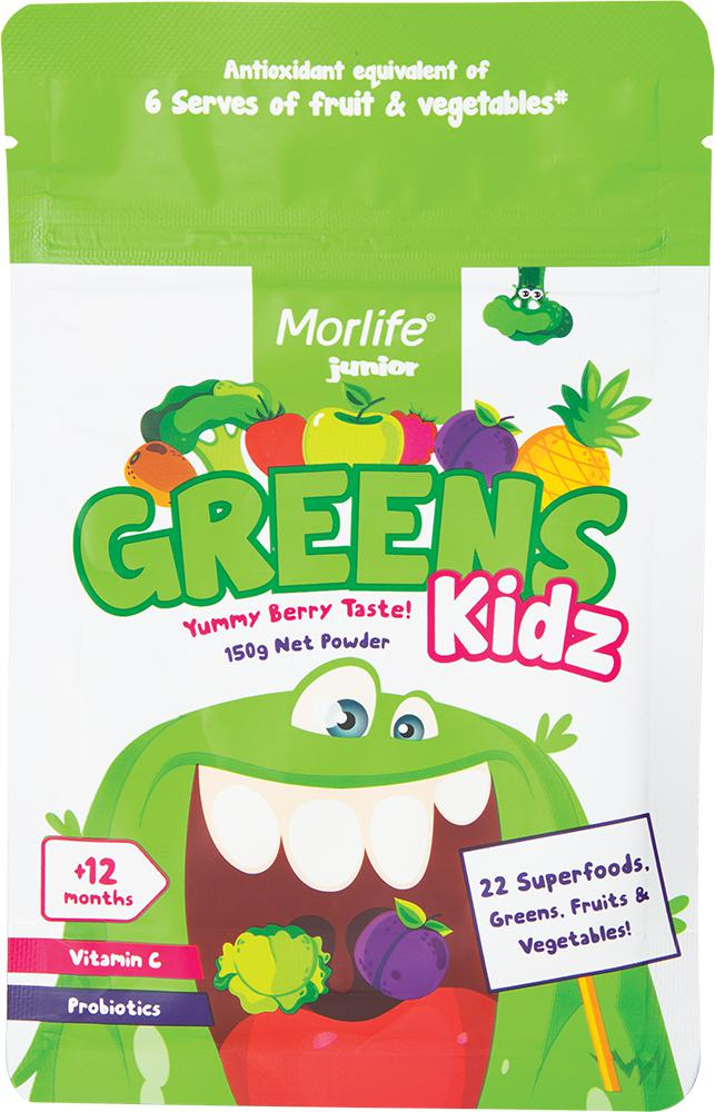 Morlife Clever Kidz-Health Foods - Greens-Morlife-150G-Yummy Berry-Thrive Health and Nutrition