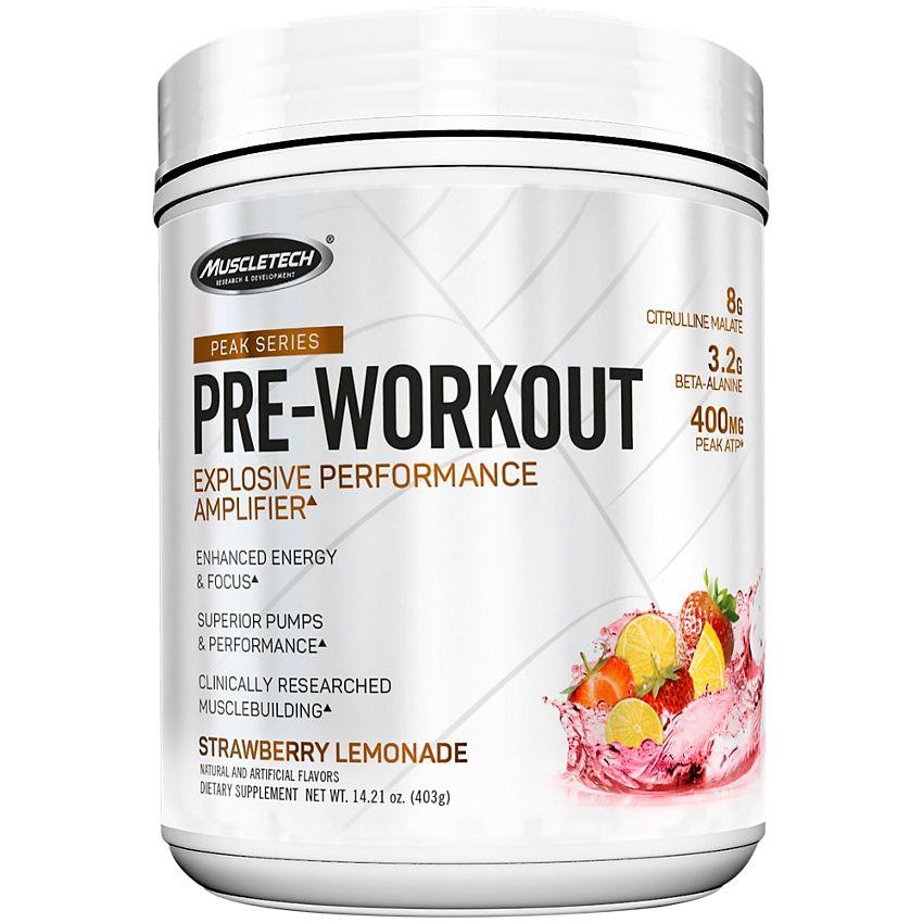 MT Peak Series Pre-Workout-Sports Nutrition - Pre Workout-MUSCLETECH-25 SERVES-Strawberry Lemonade-Thrive Health and Nutrition