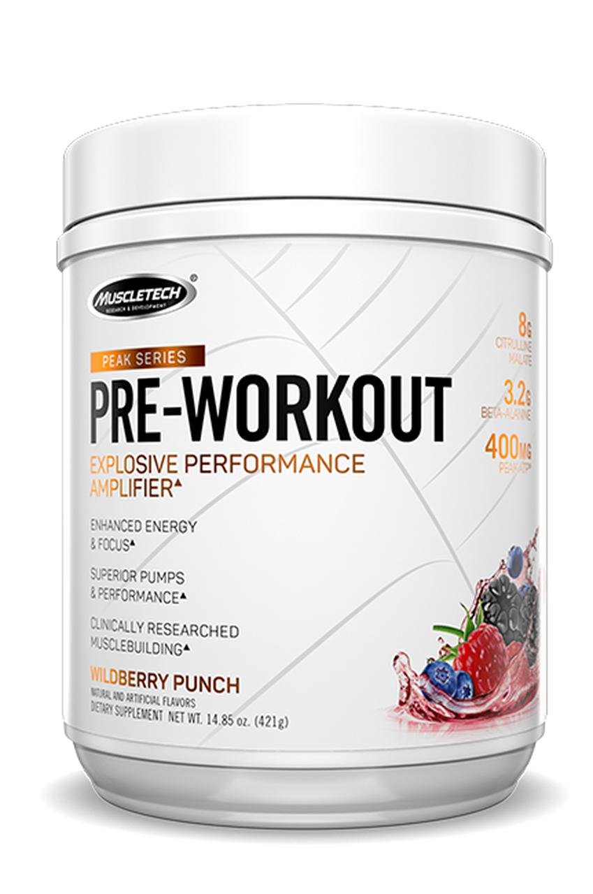 MT Peak Series Pre-Workout-Sports Nutrition - Pre Workout-MUSCLETECH-25 SERVES-Wildberry-Thrive Health and Nutrition