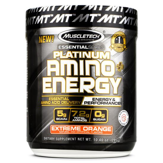 MT Platinum Amino Energy-Sports Nutrition - Amino Acid-MUSCLETECH-30 Serves-ORANGE-Thrive Health and Nutrition
