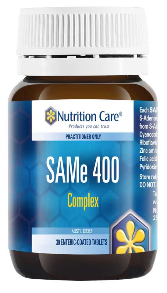 NC SAMe 400 Complex-Vitamin and Minerals - Stress Management-Nutrition Care-30T-Thrive Health and Nutrition