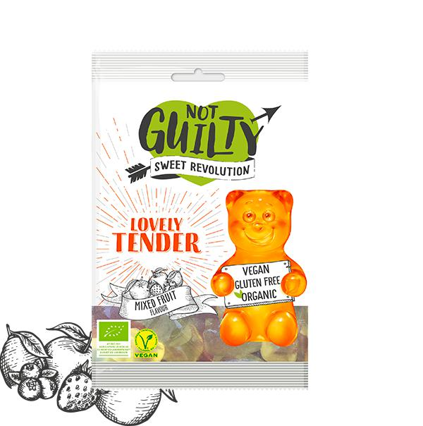Not Guilty Organic Gummies Love Me Tender-Health Foods - Confectionery-Not Guilty Sweet Revolution-100G-Mixed Fruit-Thrive Health and Nutrition