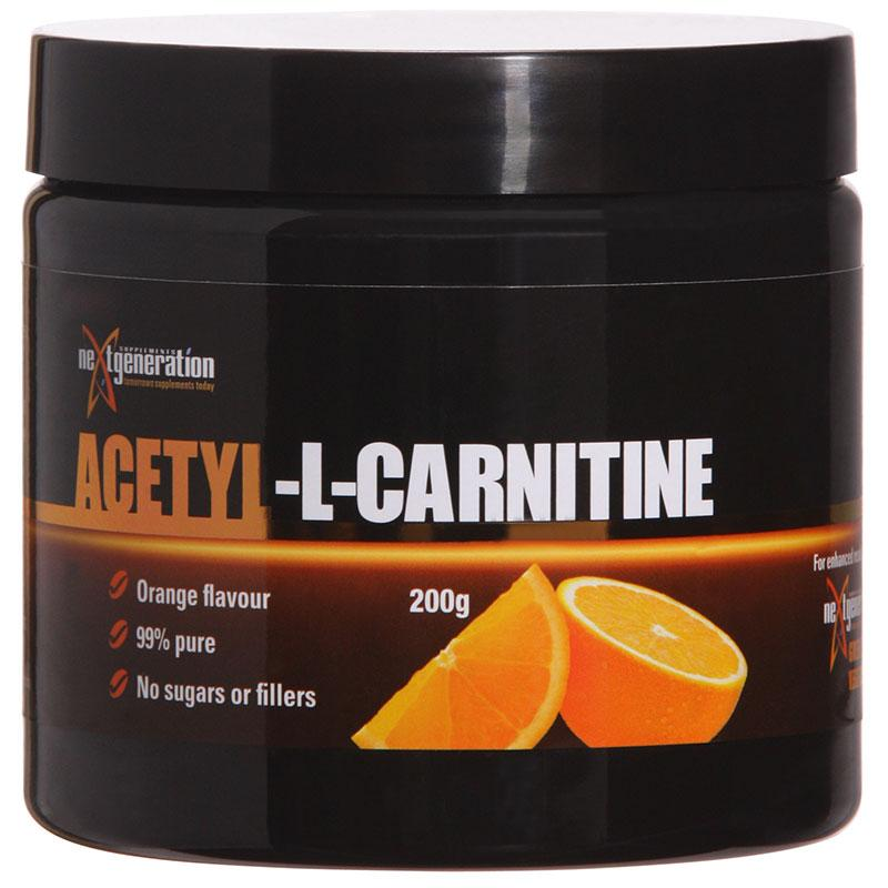 NXTGEN - Acetyl-L-Carnitine-Weight Loss - Carnitines-Next Generation-200G-ORANGE-Thrive Health and Nutrition