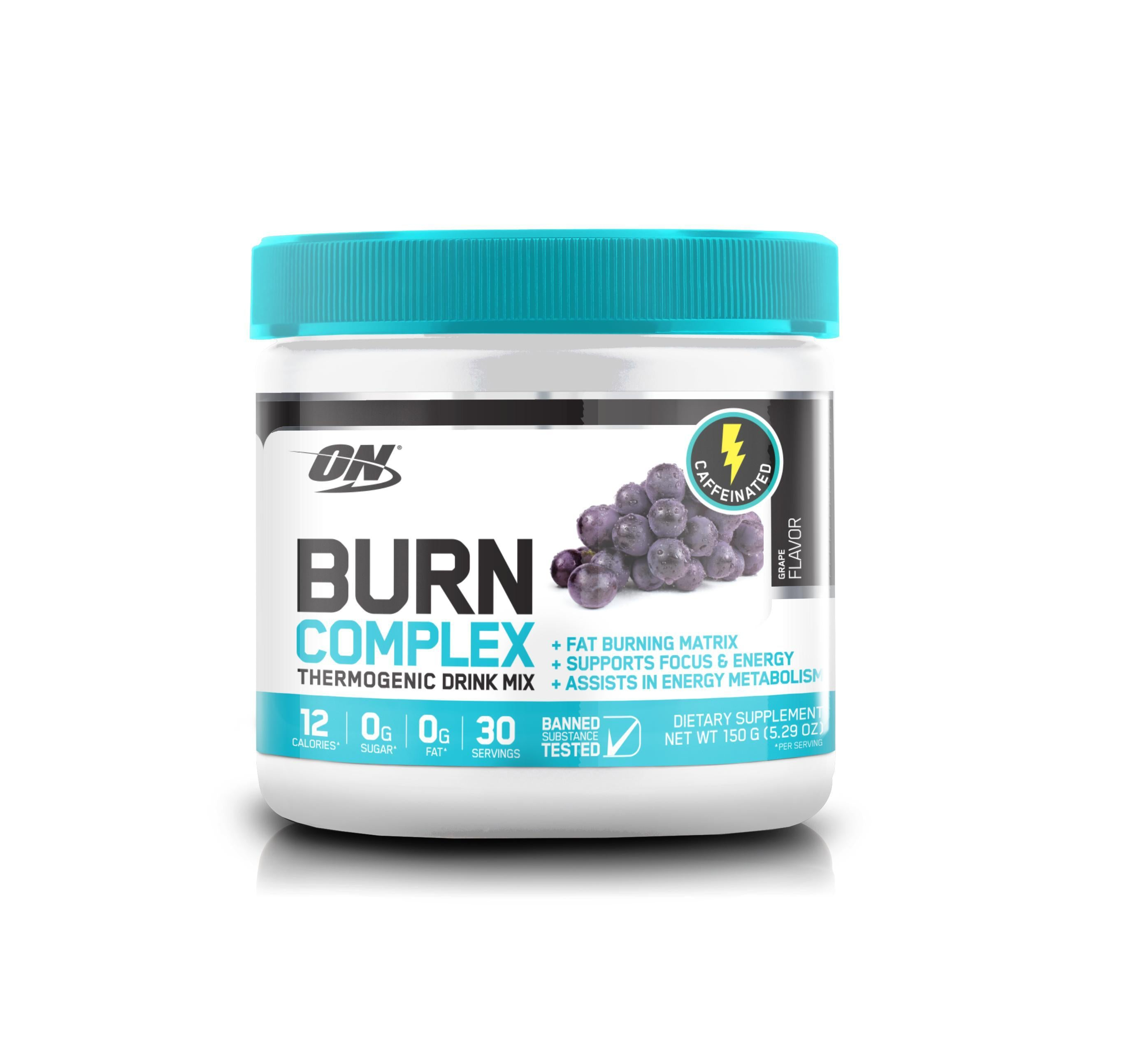 ON Burn Complex-Weight Loss - Fat Burners-Optimum Nutrition-30 Serves-Grape-Thrive Health and Nutrition