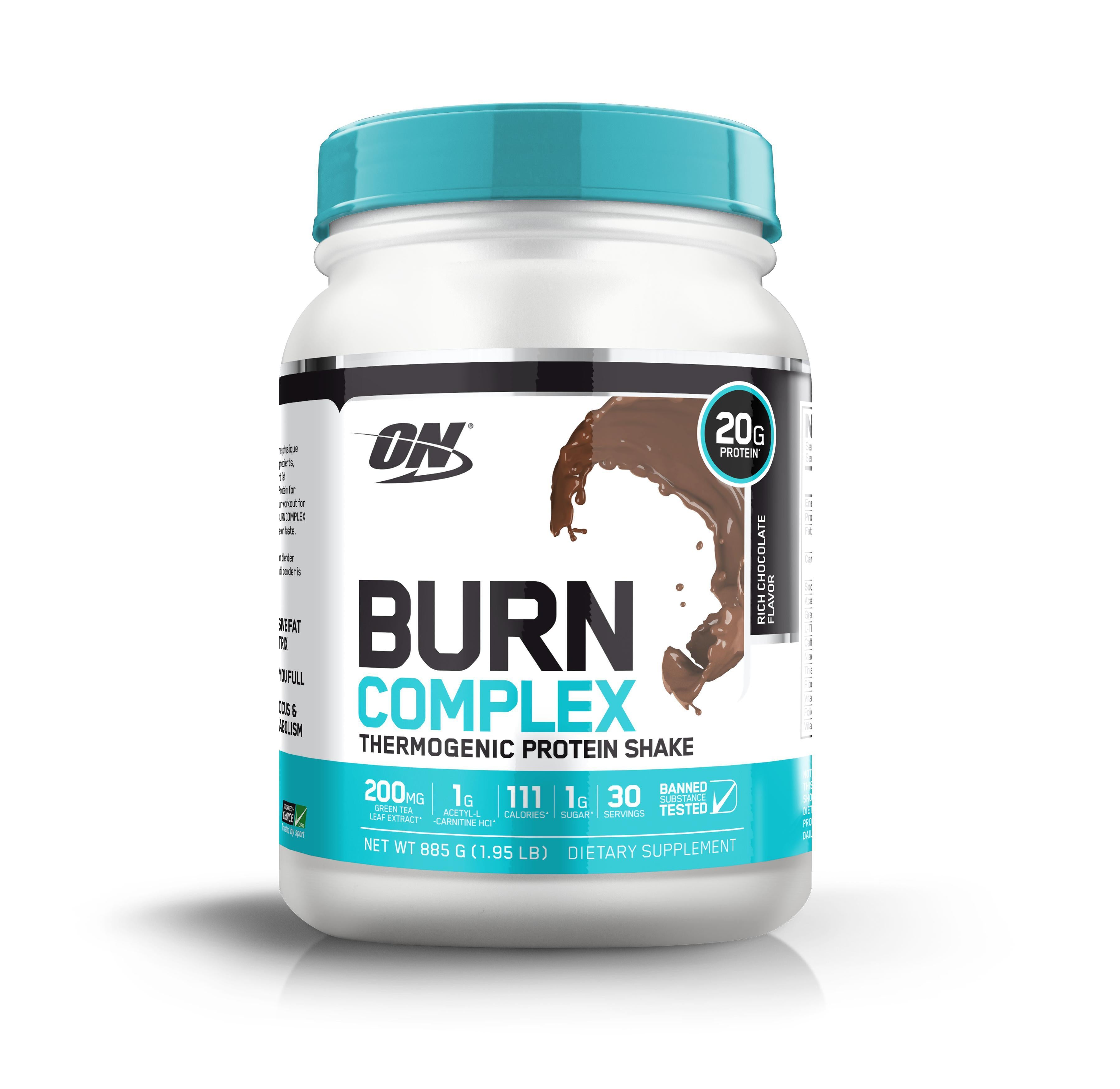 ON Burn Complex Protein-Protein - Weight Loss Protein-Optimum Nutrition-30 Serves-RICH CHOCOLATE-Thrive Health and Nutrition