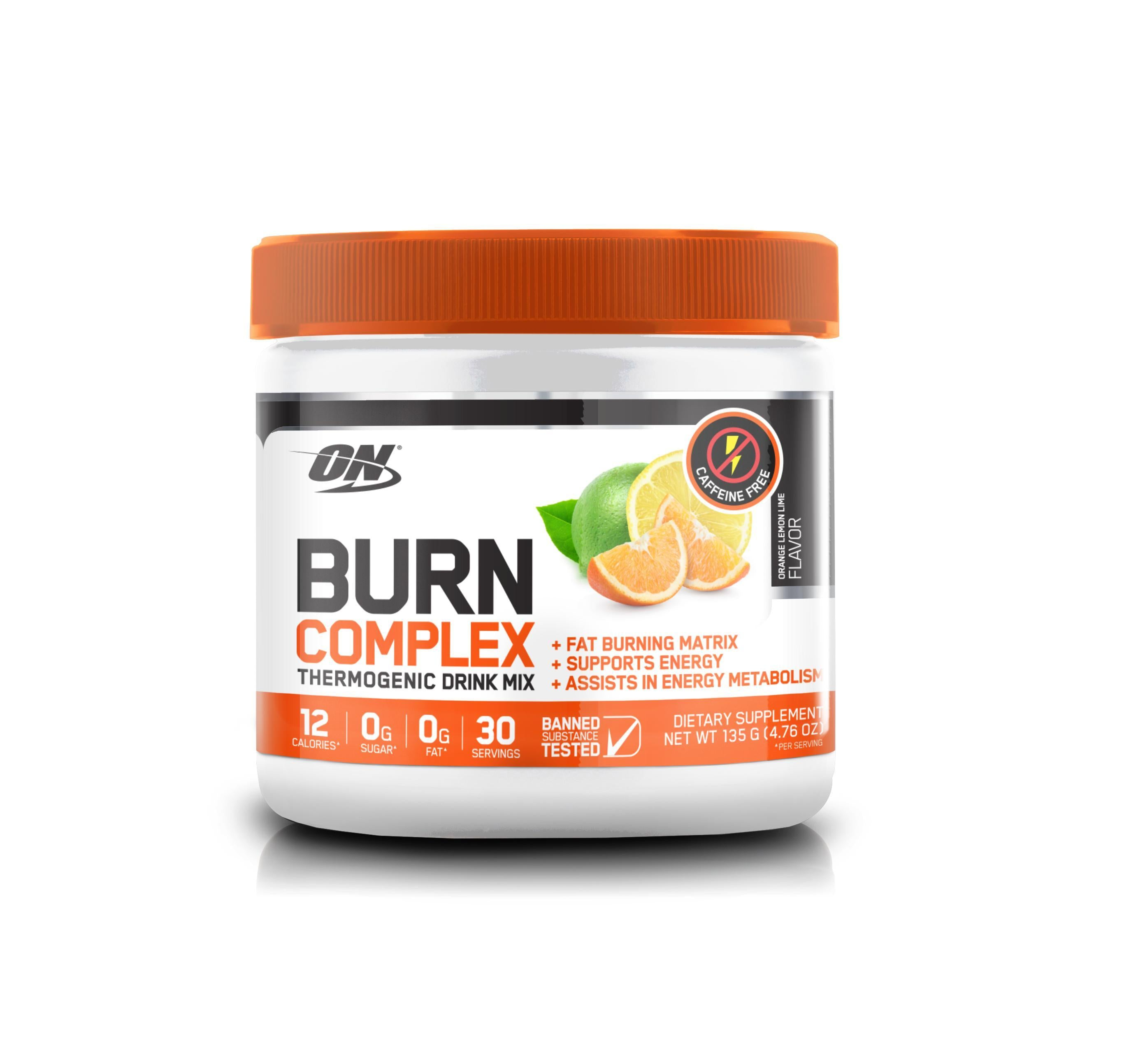 ON Burn Complex STIM FREE-Weight Loss - Fat Burners-Optimum Nutrition-30 Serves-LEMON LIME-Thrive Health and Nutrition