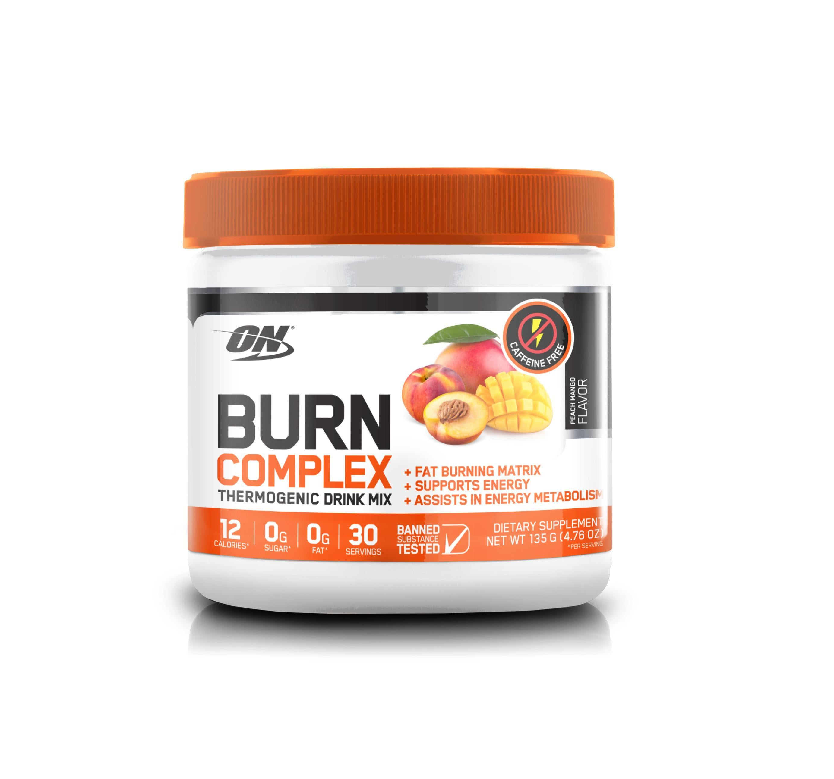 ON Burn Complex STIM FREE-Weight Loss - Fat Burners-Optimum Nutrition-30 Serves-PEACH MANGO-Thrive Health and Nutrition