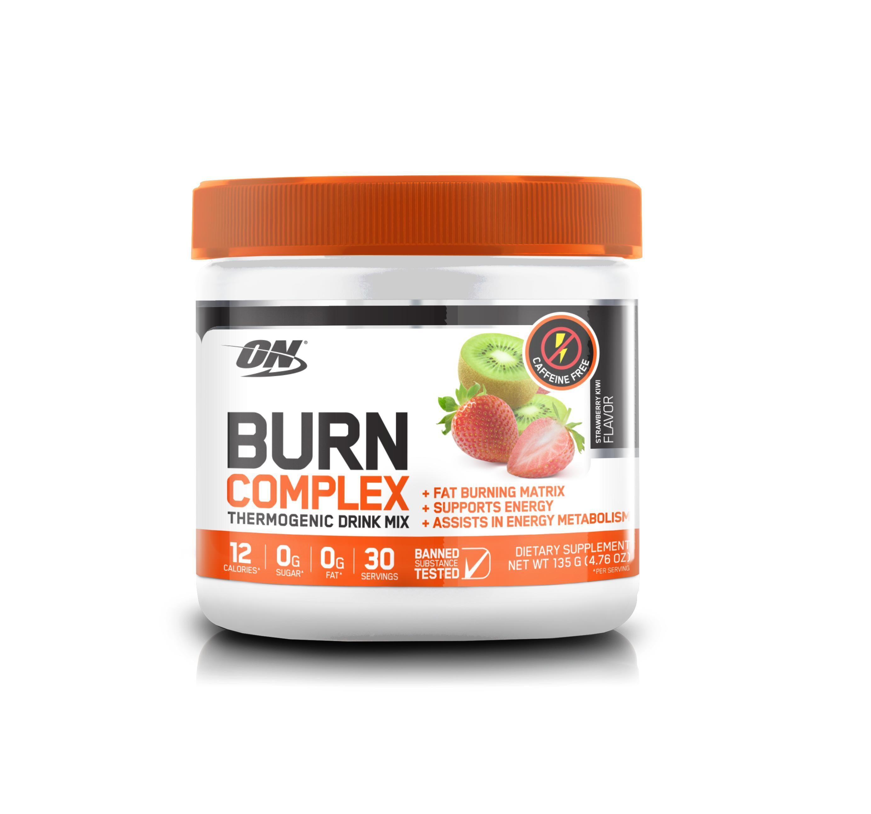 ON Burn Complex STIM FREE-Weight Loss - Fat Burners-Optimum Nutrition-30 Serves-STRAWBERRY KIWI-Thrive Health and Nutrition