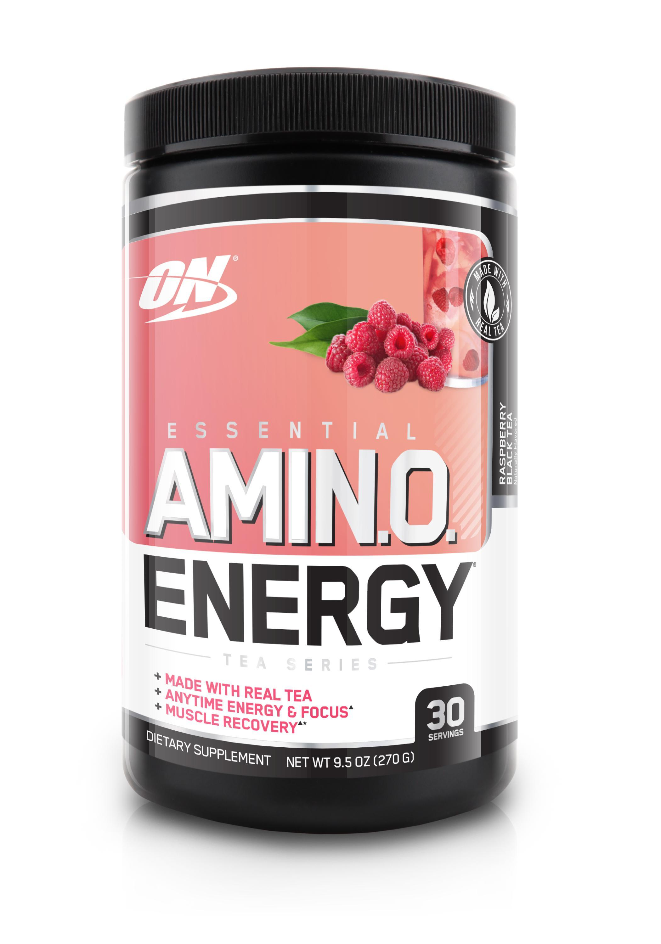 ON Essential Amino Energy Tea Series-Sports Nutrition - Amino Acid-Optimum Nutrition-30 Serves-Raspberry Black Tea-Thrive Health and Nutrition