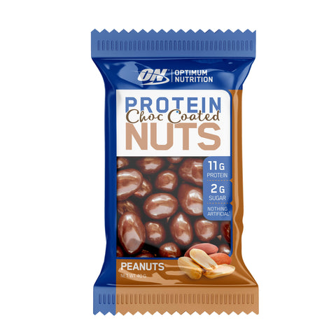ON Protein Choc Nuts-Health Foods - Protein Bars-Optimum Nutrition-40g-Peanut-Thrive Health and Nutrition