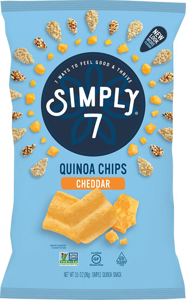 Quinoa Chips-Health Foods - Snacks-Simply 7-99GM-Cheddar-Thrive Health and Nutrition