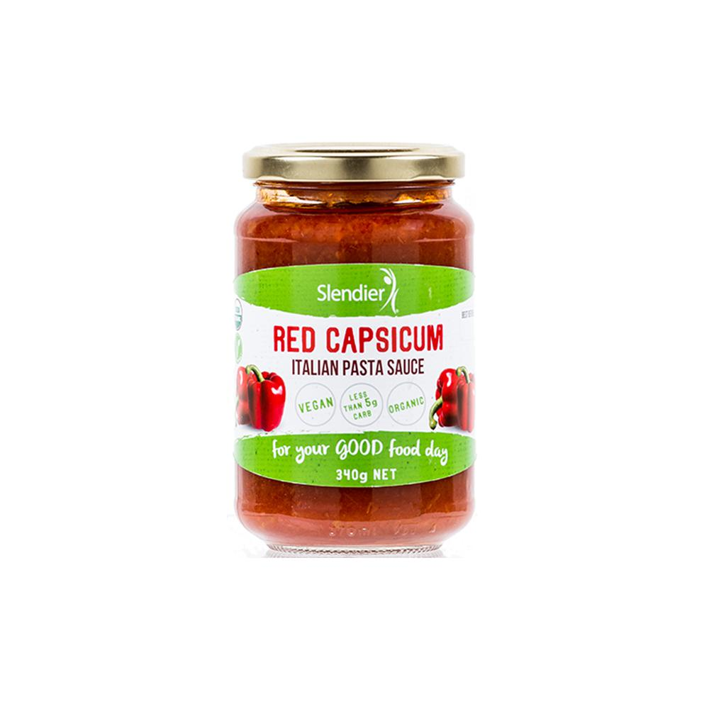 Red Capsicum Italian Sauce-Health Foods - Sauces And Seasoning-Slendierslim-340GM-Thrive Health and Nutrition