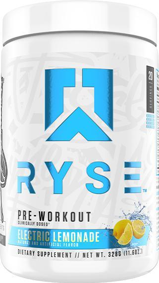 RYSE Pre Workout-Sports Nutrition - Pre Workout-RYSE-20 Serves-Electric Lemonade-Thrive Health and Nutrition