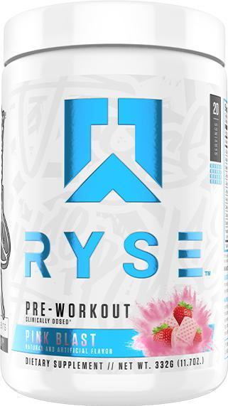 RYSE Pre Workout-Sports Nutrition - Pre Workout-RYSE-20 Serves-Pink Blast-Thrive Health and Nutrition
