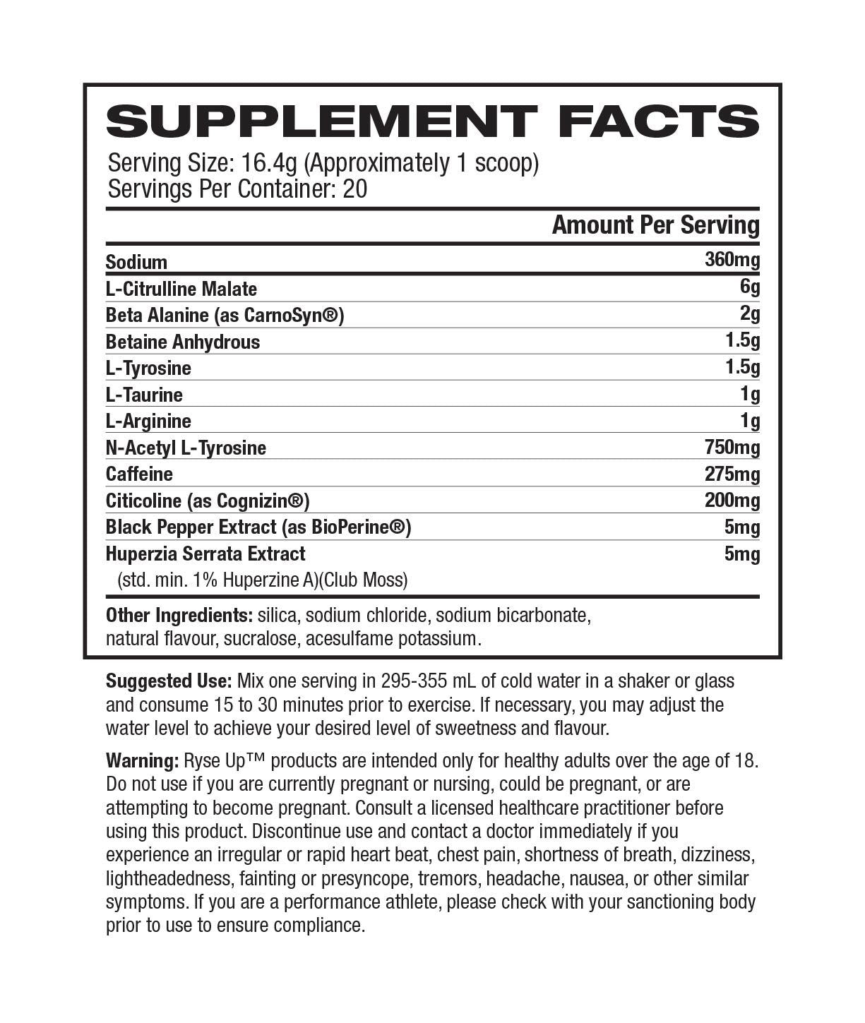 RYSE Pre Workout-Sports Nutrition - Pre Workout-RYSE-Thrive Health and Nutrition