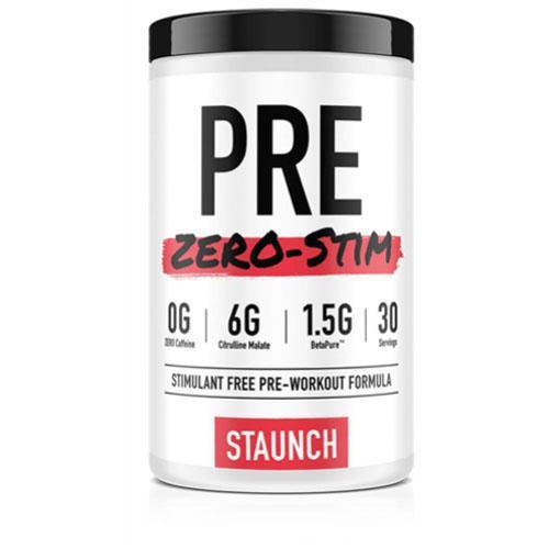 Staunch Nutrition Pre Zero Stim-Sports Nutrition - Stim Free Pre Workout-Staunch Nutrition-30 Serves-BLUE RASPBERRY-Thrive Health and Nutrition
