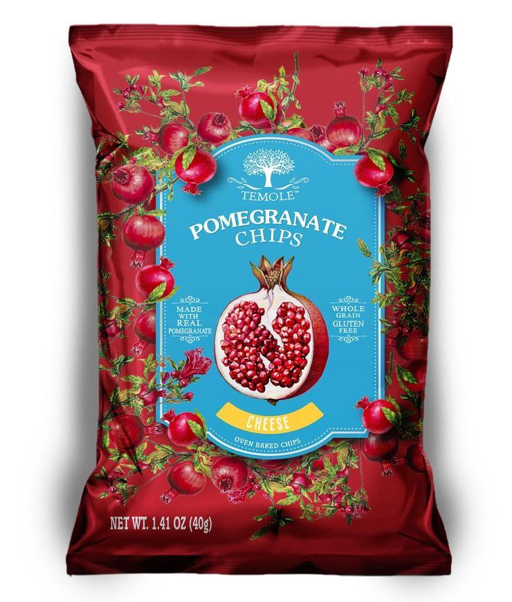 Temole Pomegranate Chips-Health Foods - Snacks-Temole-40g-Cheese-Thrive Health and Nutrition