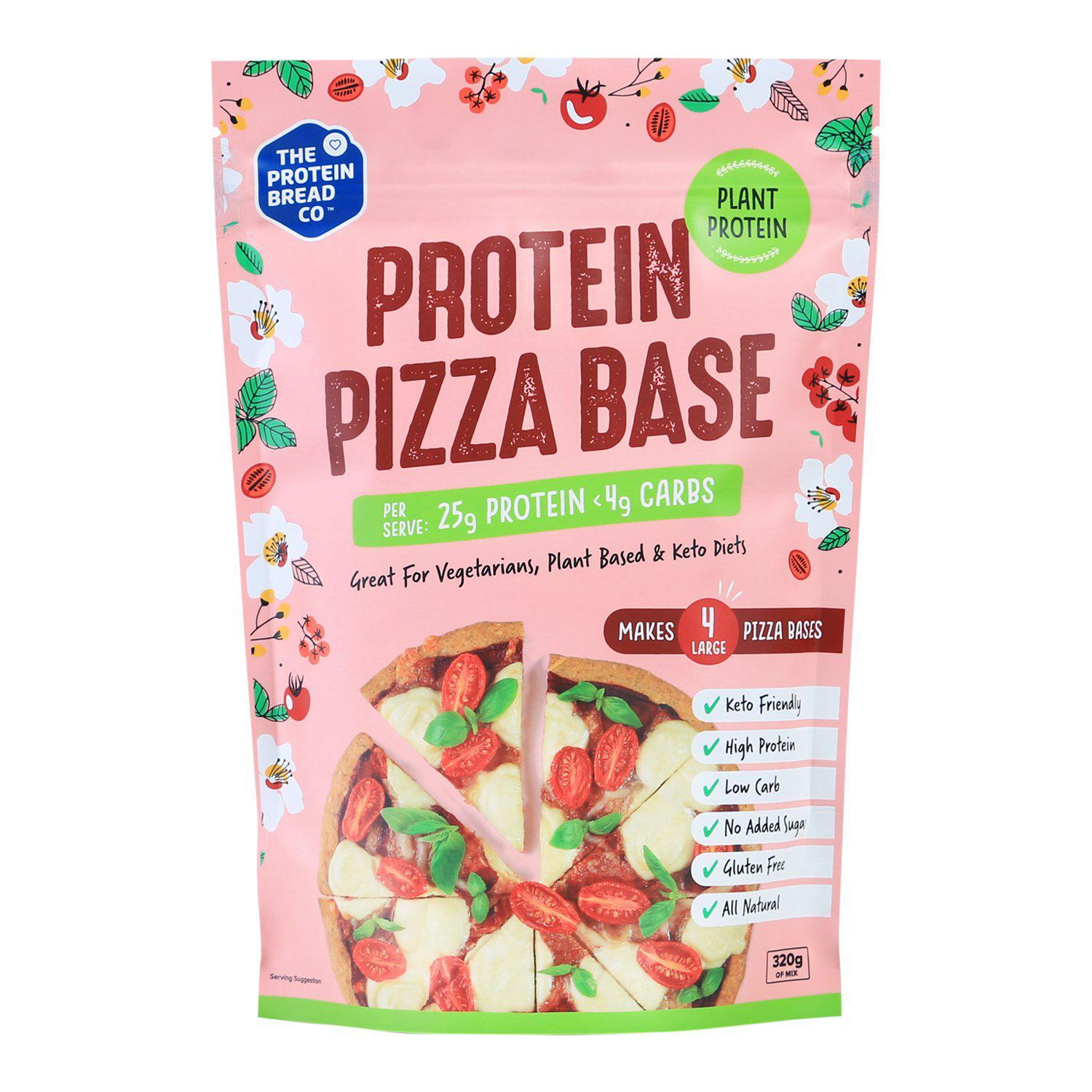 TPBC Pizza Base Plant Mix-Health Foods - Ready Made Mixes-THE PROTEIN BREAD CO-320G-Thrive Health and Nutrition