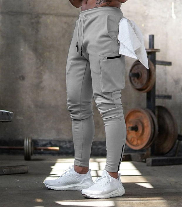HUSTLE CARGP ZIP JOGGERS - GREY