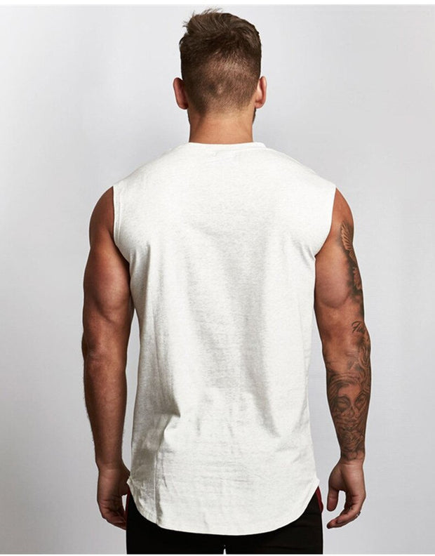 HUSTLE MINIMAL SLEEVELESS T SHIRT