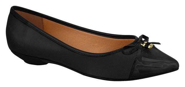Vizzano 1131-1121 Pointy Toe Heel in Black Napa Flats Vizzano