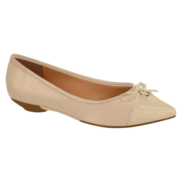 Vizzano 1131-1121 Pointy Toe Flat in Beige Napa