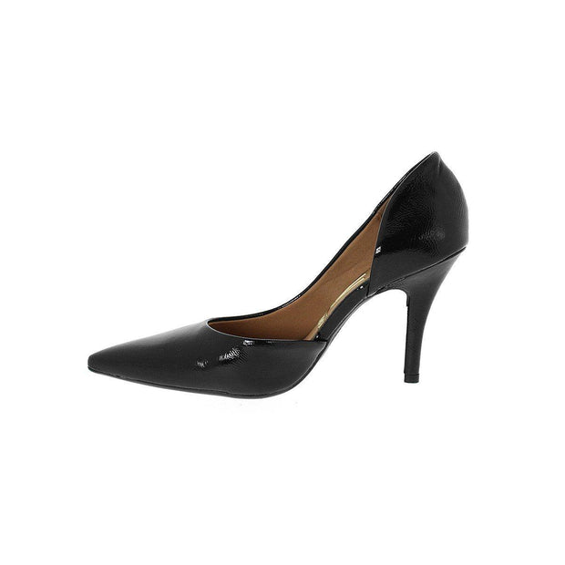 Vizzano 1184-1002 DOrsey Pointy Toe Pump in Black Patent