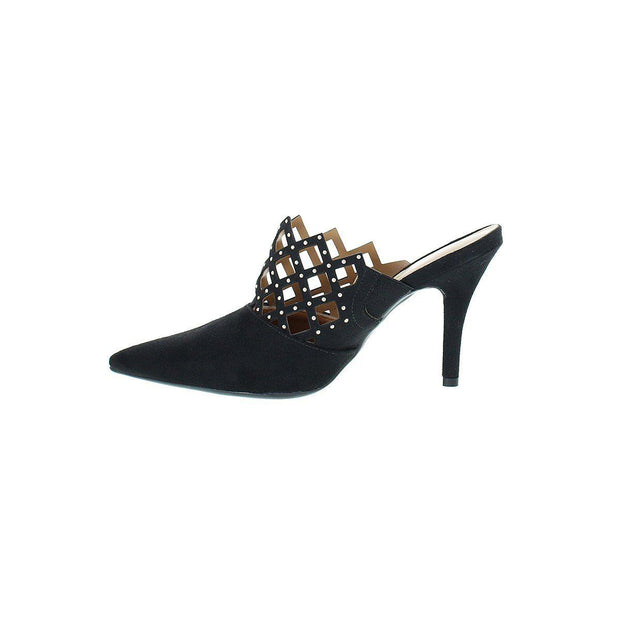 Vizzano 1184-1003 Pointy Toe Mule in Black Suede