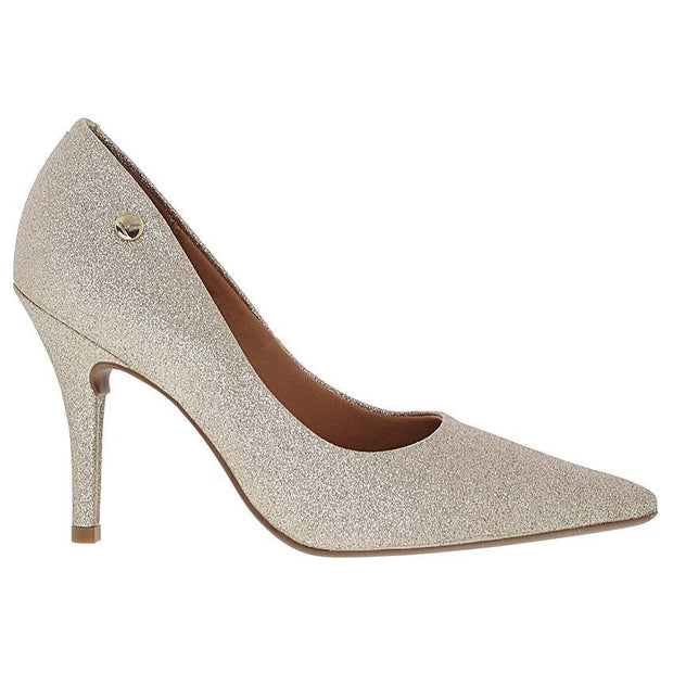 Vizzano 1184-101 Pointy Toe Pump in Gold Glitter Heels Vizzano