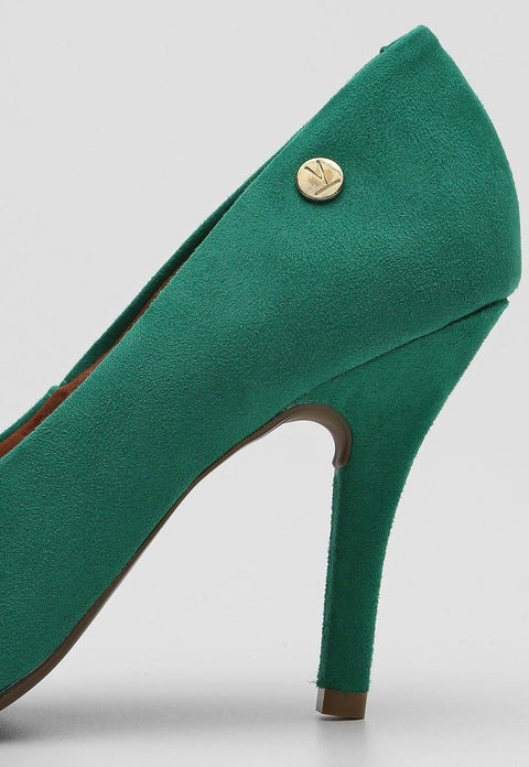 Vizzano 1184-1101 Pointy Toe Pump in Green Suede