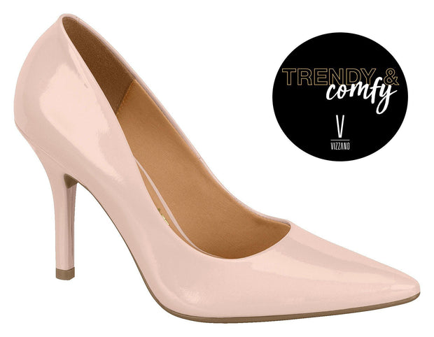 Vizzano 1184-1113 Pointy Toe Pump in Pink Patent